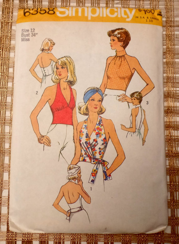 pattern - halter top